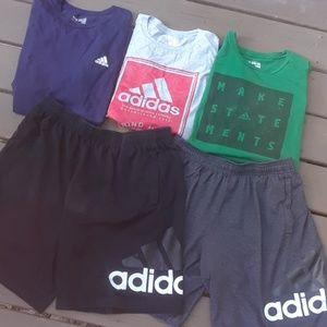 I  men's Adidas lot t-shirts shorts